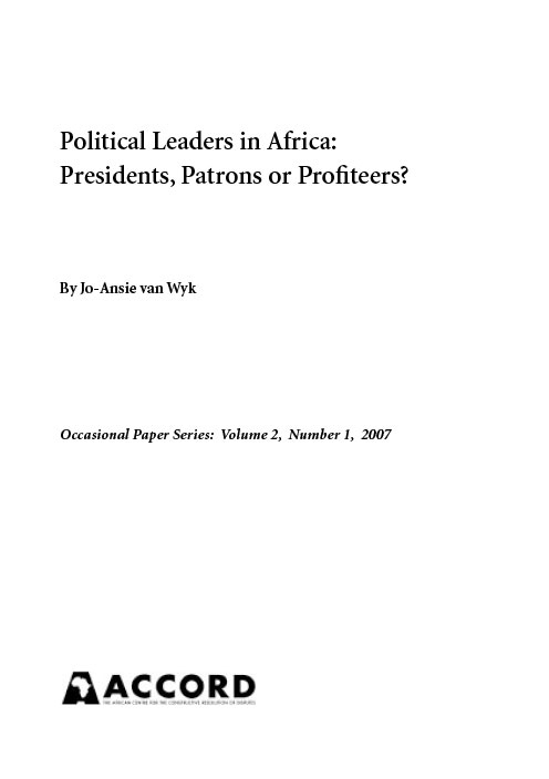 ACCORD - Occasional Paper - 2007-1 - Political leaders in Africa