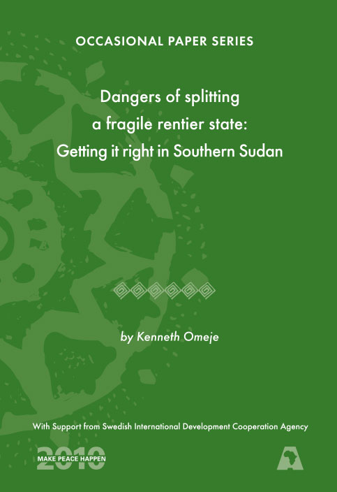 ACCORD - Occasional paper - 2010-1 - Dangers of Splitting a Fragile Rentier State
