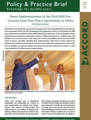 ACCORD - PPB - 10 - Peace Implementation in the Post 2005 Era
