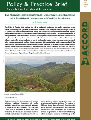 ACCORD - PPB - 12 - The Abunzi Mediation in Rwanda