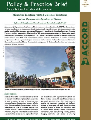 ACCORD - PPB - 13 - Managing Election-related Violence