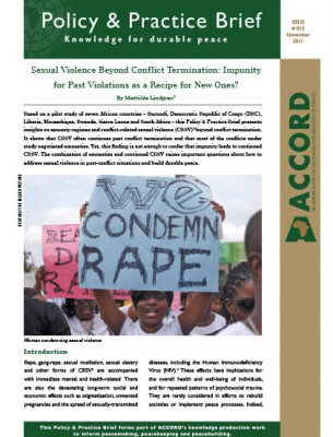 ACCORD - PPB - 15 - Sexual Violence Beyond Conflict Termination