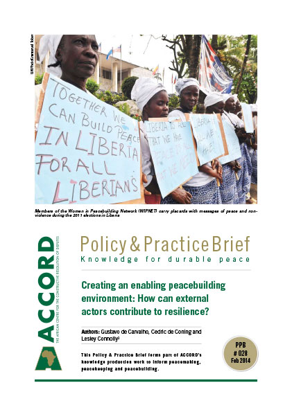 ACCORD - PPB - 28 - Creating an enabling peacebuilding environment