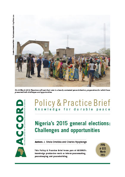ACCORD - PPB - 33 - Nigerias 2015 general elections