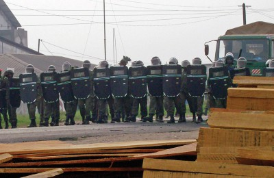 Cameroonian riot police