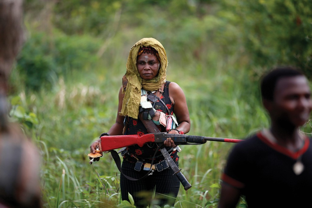 Female member of the anti-balaka