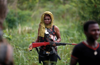 Female member of the anti-balaka