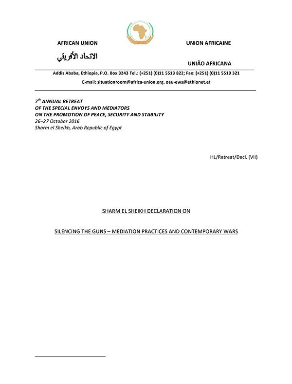 ACCORD Sharm el Sheikh Declaration