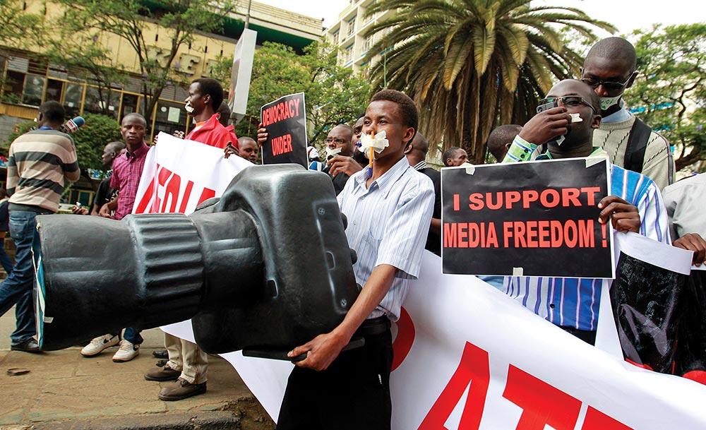 Kenyan Media March