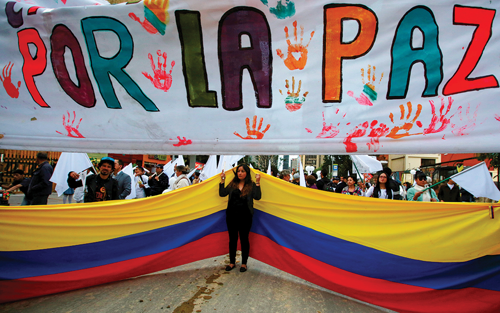 March in Bogota, Colombia