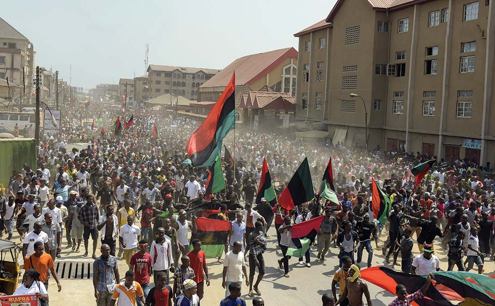 Pro-Biafra supporters
