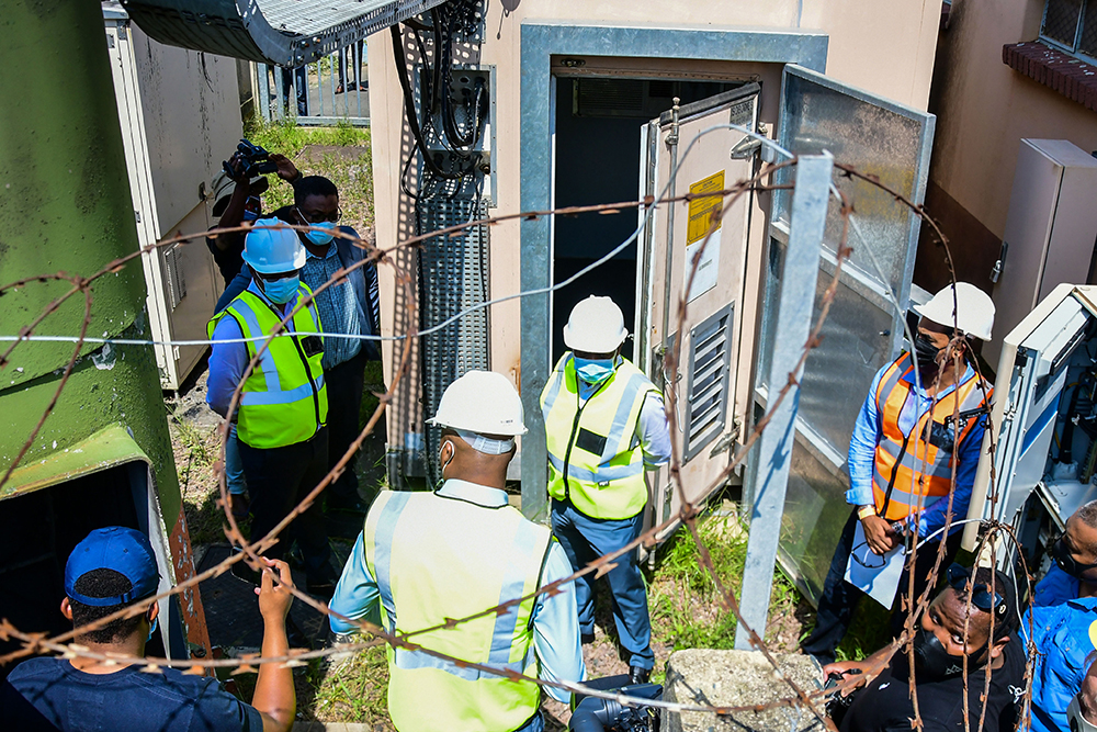 Premier Zikalala inspects damaged telecommunications infrastructure in Durban